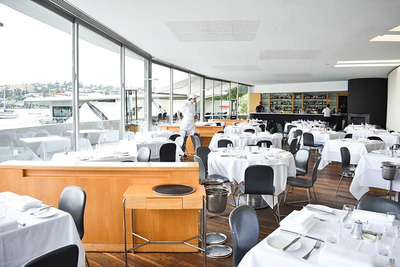 Restaurant interior.