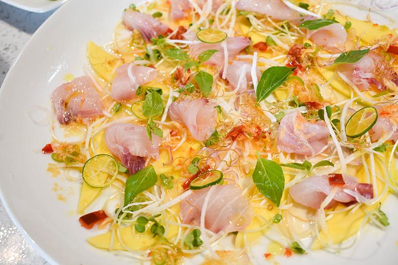 Vietnamese tuna ceviche.