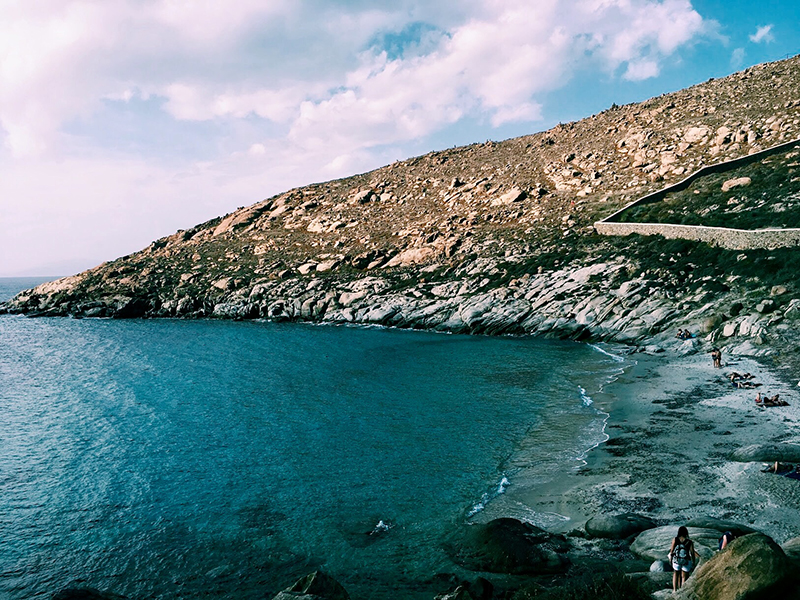 The hidden beach with barely any people.
