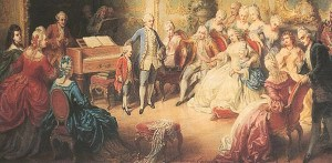 Maria Theresia granted the twelve-year-old, Wolfgang Amadeus Mozart, a two-hour audience at theImperial Palace, the residence of the Habsburgs.