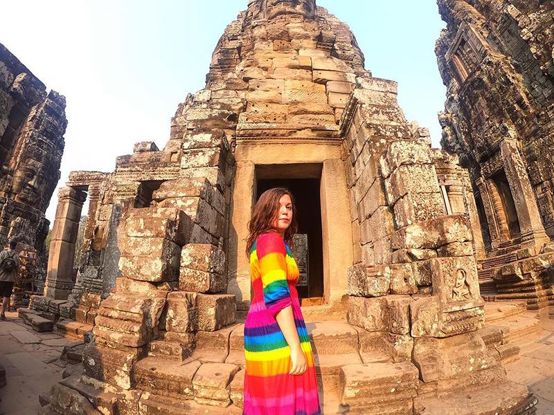 Exploring Cambodia.