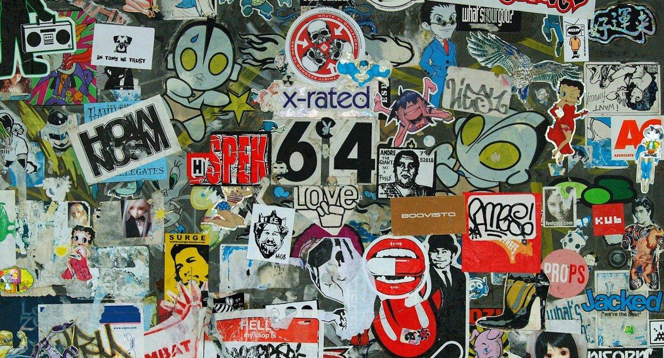 NYC graffiti stickers