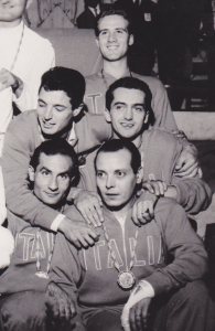 Italian sabre team, from top: Pierluigi Chicca, Mario Ravagnan, Giampaolo Calanchini, Wladimiro Calarese and Roberto Ferrari (injured)
