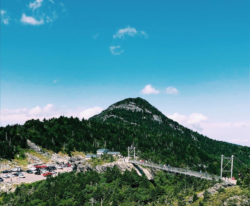 Grandfather mountain and suspension bridge