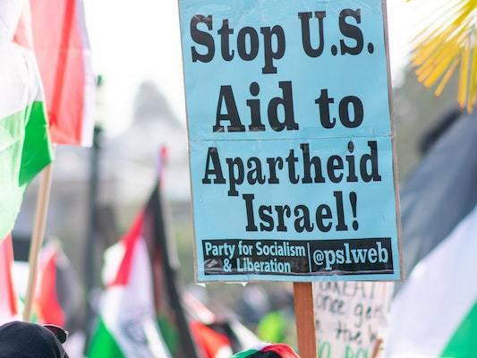 Protest against U.S. aid to Israel, 2021