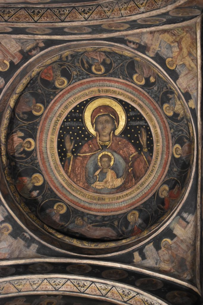 Gold leafing in Bucharesti church