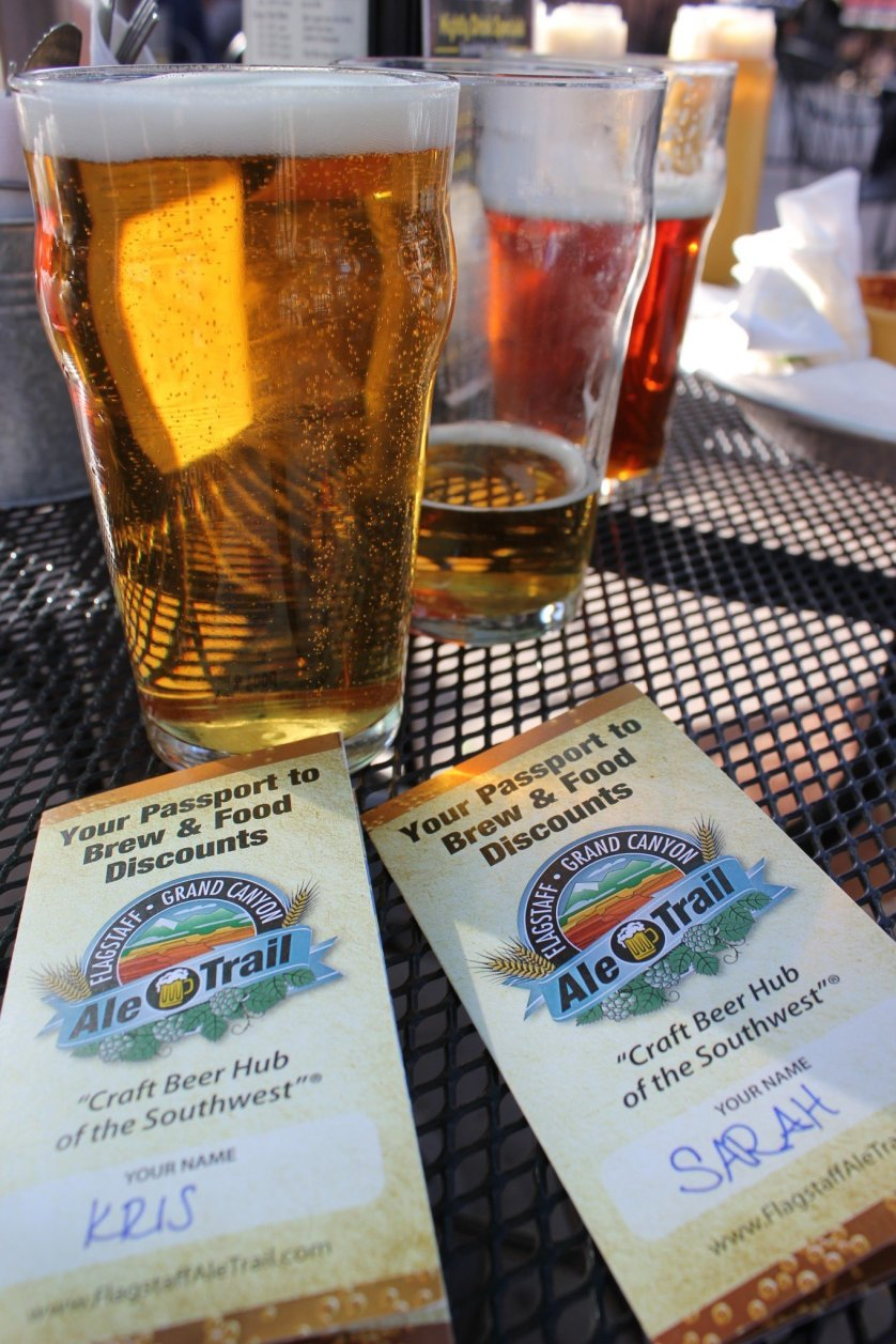 Flagstaff Ale Trail Beer Passports and Pint of Beer in Flagstaff, Arizona