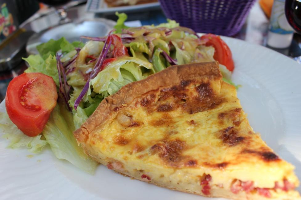 Quiche at cafe in St. Jean de Luz, France