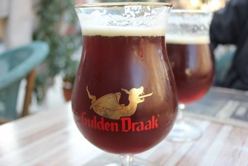 Gulden Draak Belgium Beer at bar in Bellavista, Santiago, Chile