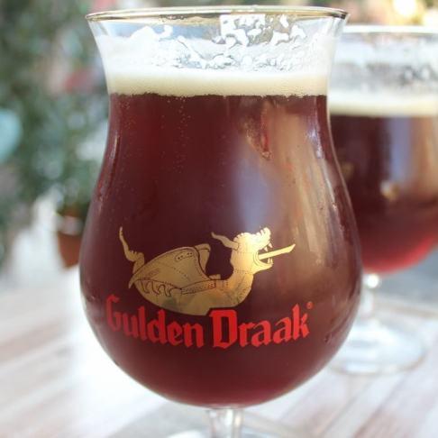 Gulden Draak Belgium Beer at bar in Bellavista, Santiago, Chile