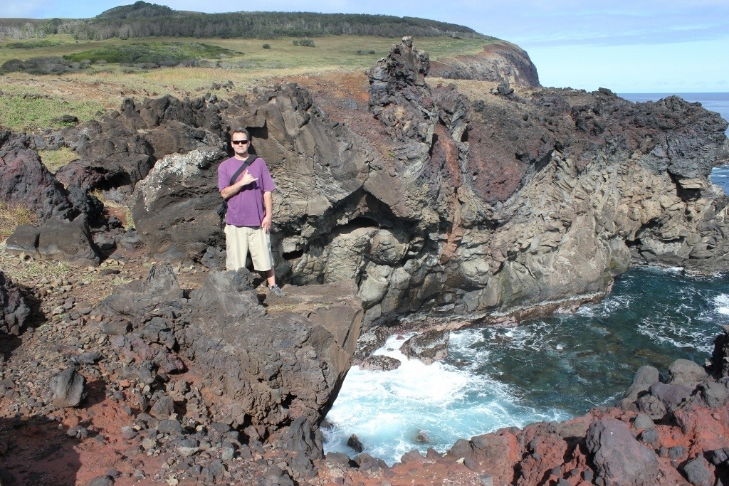 Hike Easter Island: The rocky cliffs