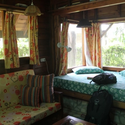 Inside our cabin at Mark's Place, Moorea, French Polynesia