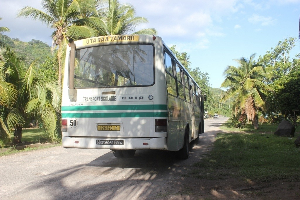 We were able to flag this bus down for a ride from the beach back home