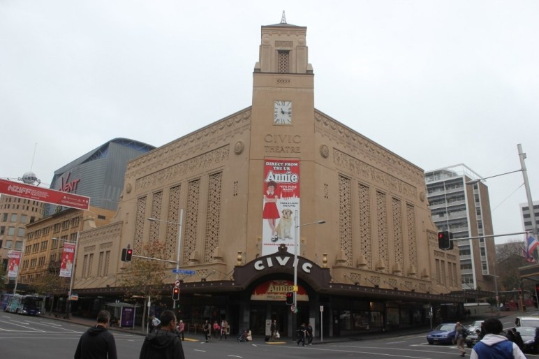Civic Theater on Aotea Square in Auckland, New Zealand