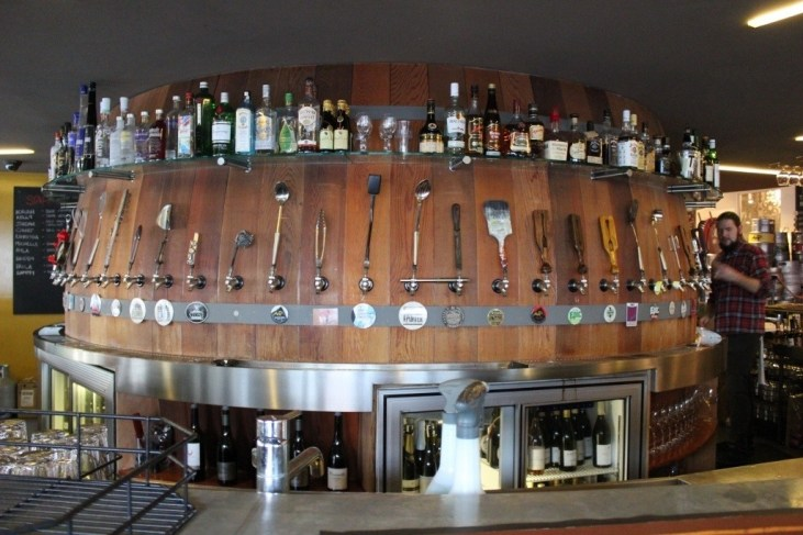Taps at Fork and Brewery in Wellington, New Zealand