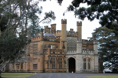 The Government House on the Domain in Sydney, Australia