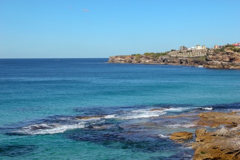Blue seascapes on Coogee to Bondi walk in Sydney, Australia
