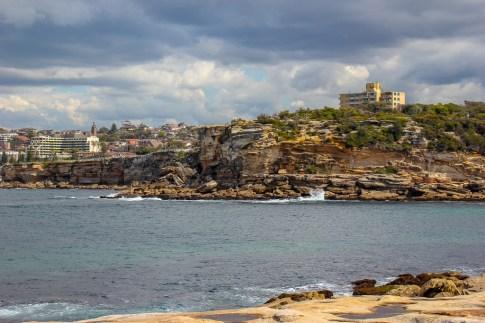 Coastal sea view on Bondi to Coogee Coastal Walk in Sydney, Australia