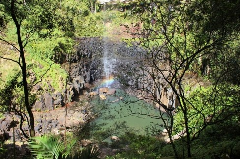 Purling Brook Falls at Springbrook National Park near Coolangatta, Gold Coast, Australia