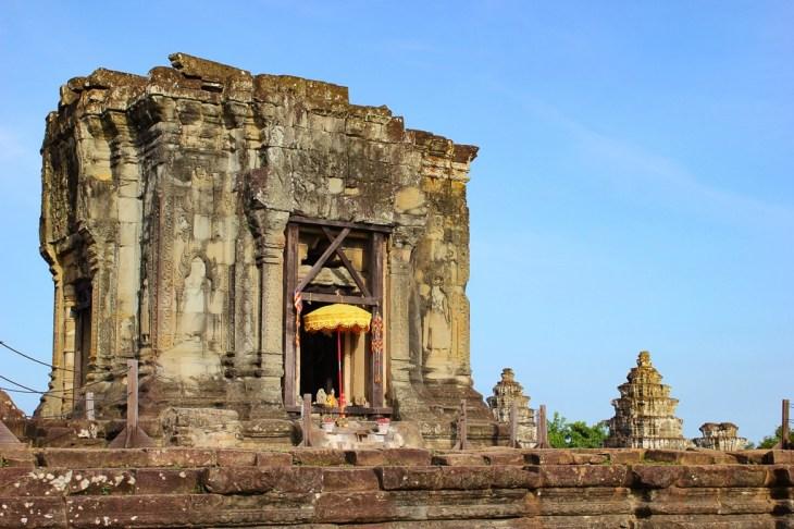 Ruins of Phnom Bakheng Temple at Angkor Park in Siem Reap, Cambodia