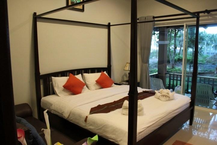 Our bedroom at Phutara Resort on Klong Khong Beach in Koh Lanta, Thailand