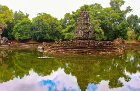 Neak Pean island temple at Angkor Park in Siem Reap, Cambodia