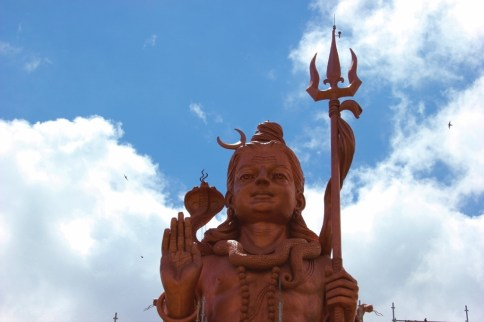 Mangal Mahadev Statue of Shiva at Grand Bassin in Mauritius