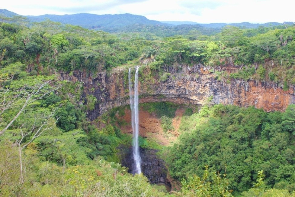 Chamarel Waterfall on Mauritius