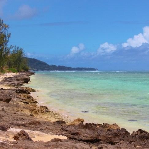 Le Morne coastline in Mauritius