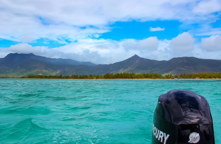 Boat trip from Mauritius