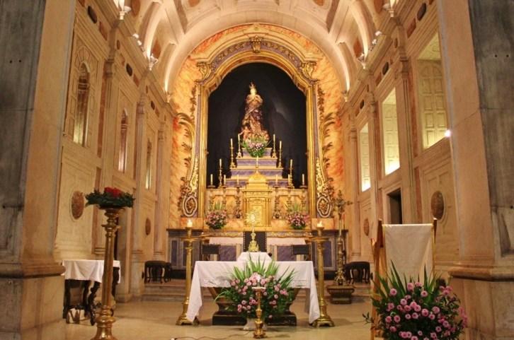 Ornate Altar at Nossa Senhora da Conceicao Velha in Lisbon, Portugal