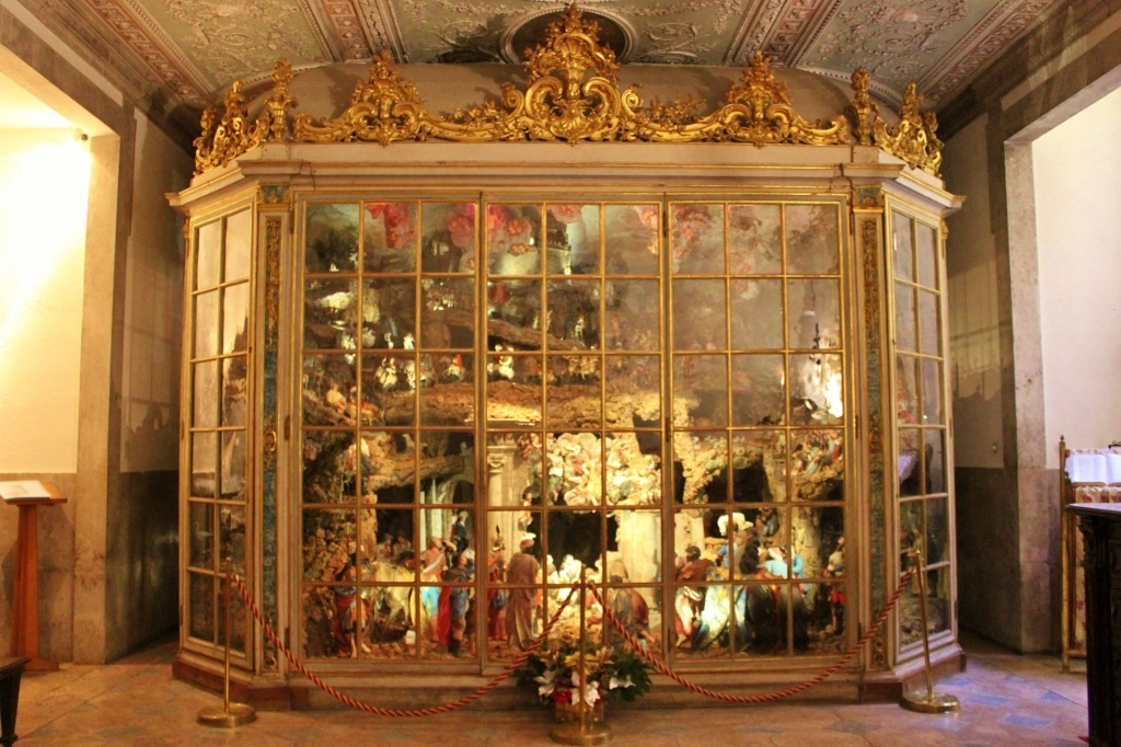 Famous Nativity Scene with 500 pieces at Estela Basilica in Lisbon, Portugal