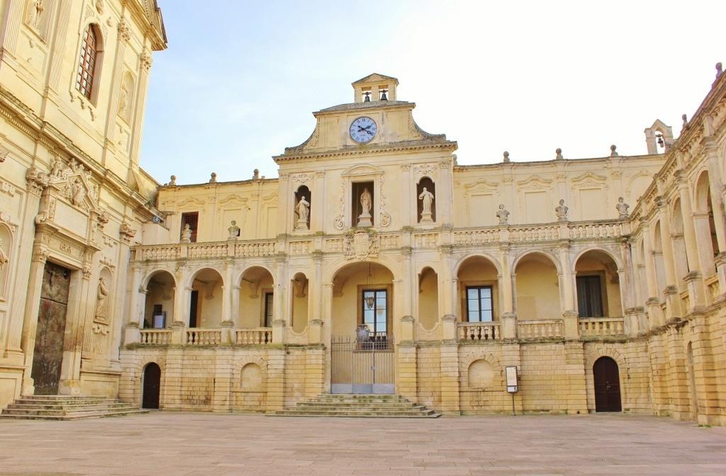Piazza del Duomo in Lecce, Italy: Episcopio - The Bishop's Palace