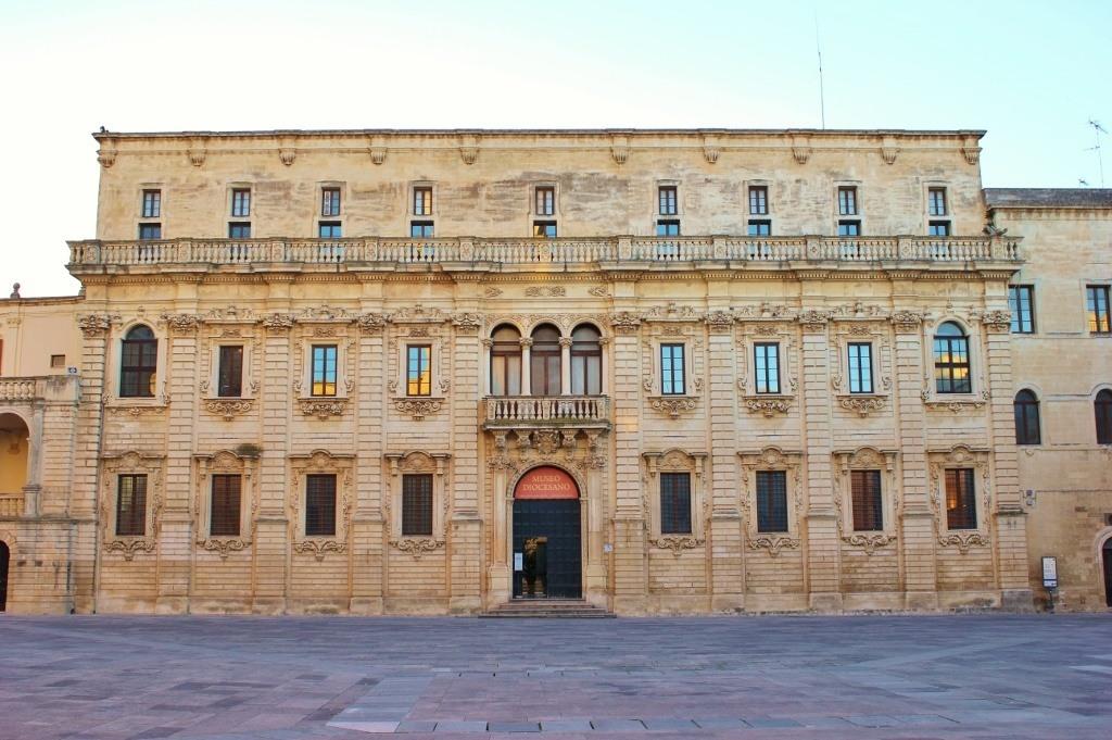 Piazza del Duomo in Lecce, Italy: Seminario - The beautifully designed Baroque seminary