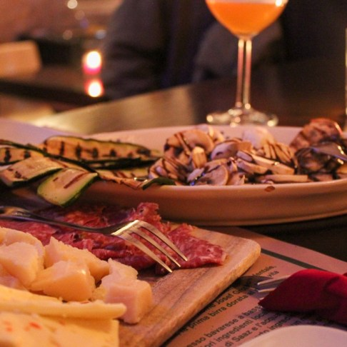 Classic platters of Italian Aperitivo at restaurants in Lecce, Italy
