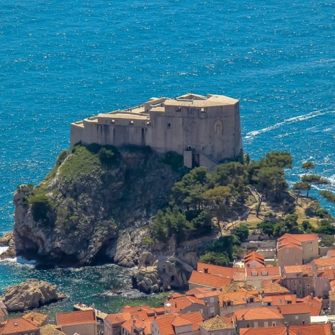 Fort Lovrijenac, also known as Game of Thrones' King's Landing, in Dubrovnik, Croatia