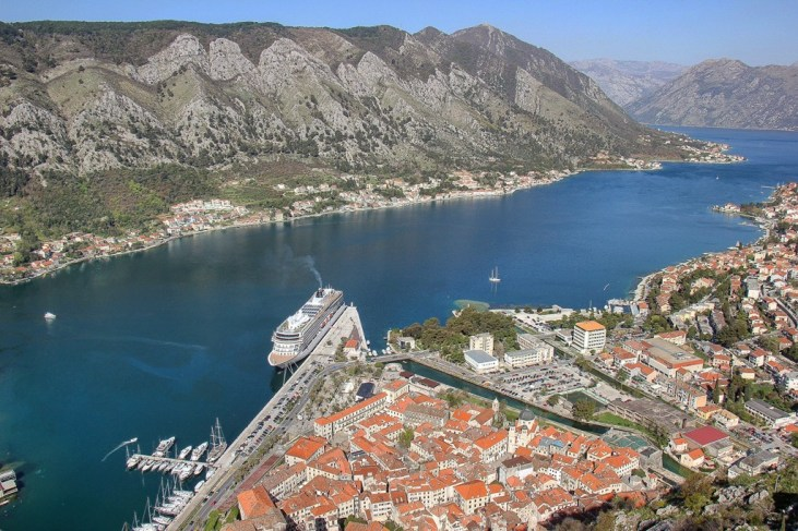 Amazing view from hiking above Kotor, Montenegro