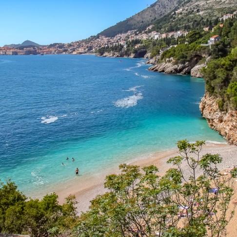 View from Sveti Jakov Beach in Dubrovnik, Croatia