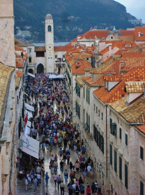View of the Stradun while Walking the Walls, Dubrovnik, Croatia JetSettingFools.com