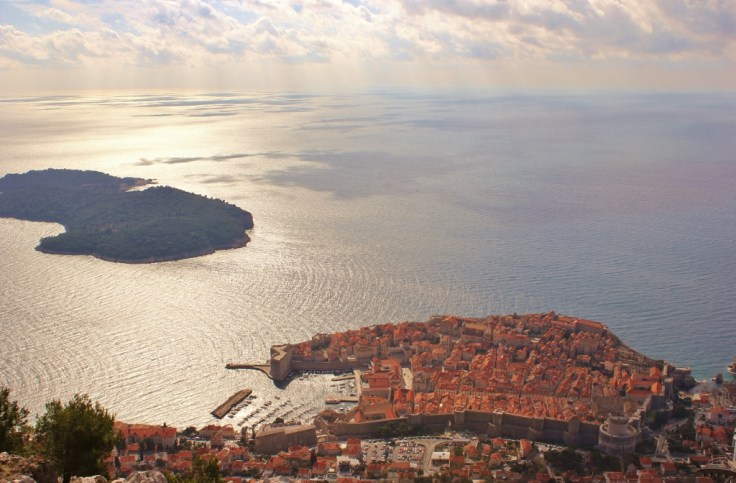 View of the city from the top of Mt. Srd, Dubrovnik, Croatia JetSettingFools.com