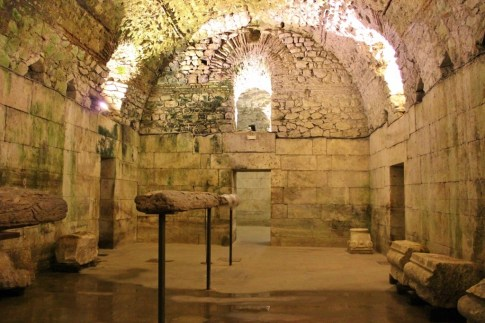 Room in Diocletian's Palace Basement in Split, Croatia