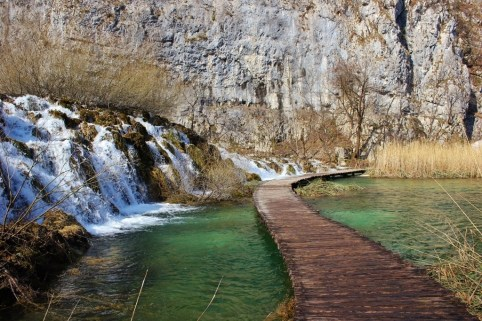 Plitvice Lakes photos: A winter visit means less lush greenery, but also fewer crowds.