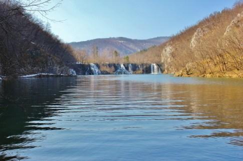 Plitvice Lakes: Four falls across the lake