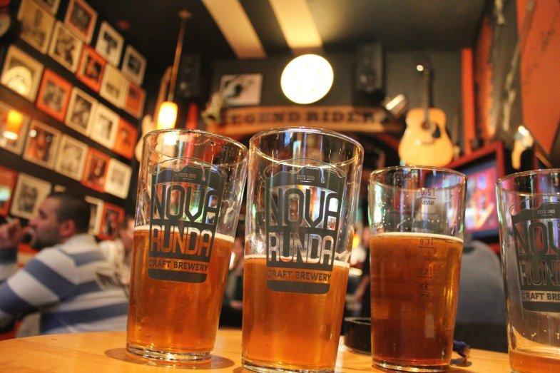 Nova Runda Craft Brewery on tap at Legend Rider's Caffe