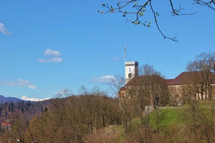 Ljubljana Castle on Castle Hill in Ljubljana, Slovenia