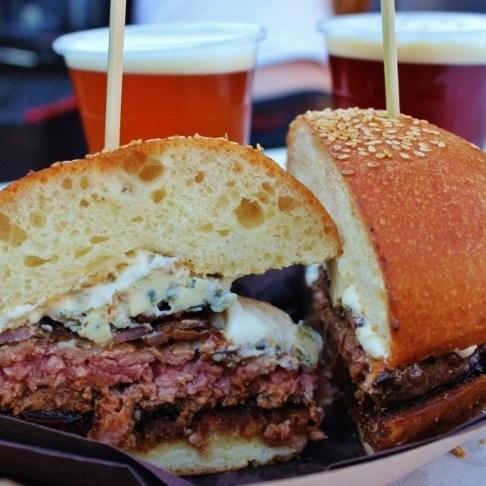 Ljubljana Food Festivals serve up some great fare, like the Holesterol burger at the Pivo & Burger Fest