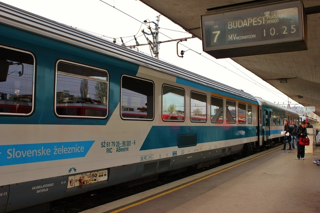 Train to Budapest: From Ljubljana, our train only had three cars for the eight hour journey.