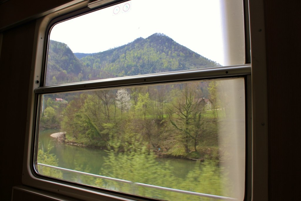 Train to Budapest: Scenic landscapes out our window during our eight hour journey from Ljubljana to Budapest