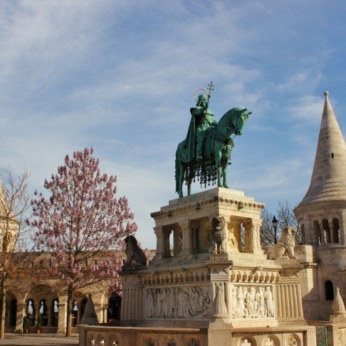 Castle Hill sights: St. Istvan, the first Christian King of Hungary.