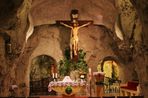 Gellert Hill Cave Church altar